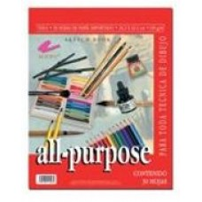 Sketch book all-porpose de 30.7x45.7 cm (130g/m) con espiral